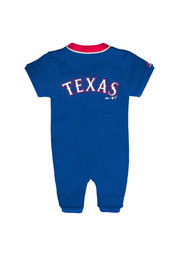 Texas Rangers Baby Blue Outfield Coverall One Piece