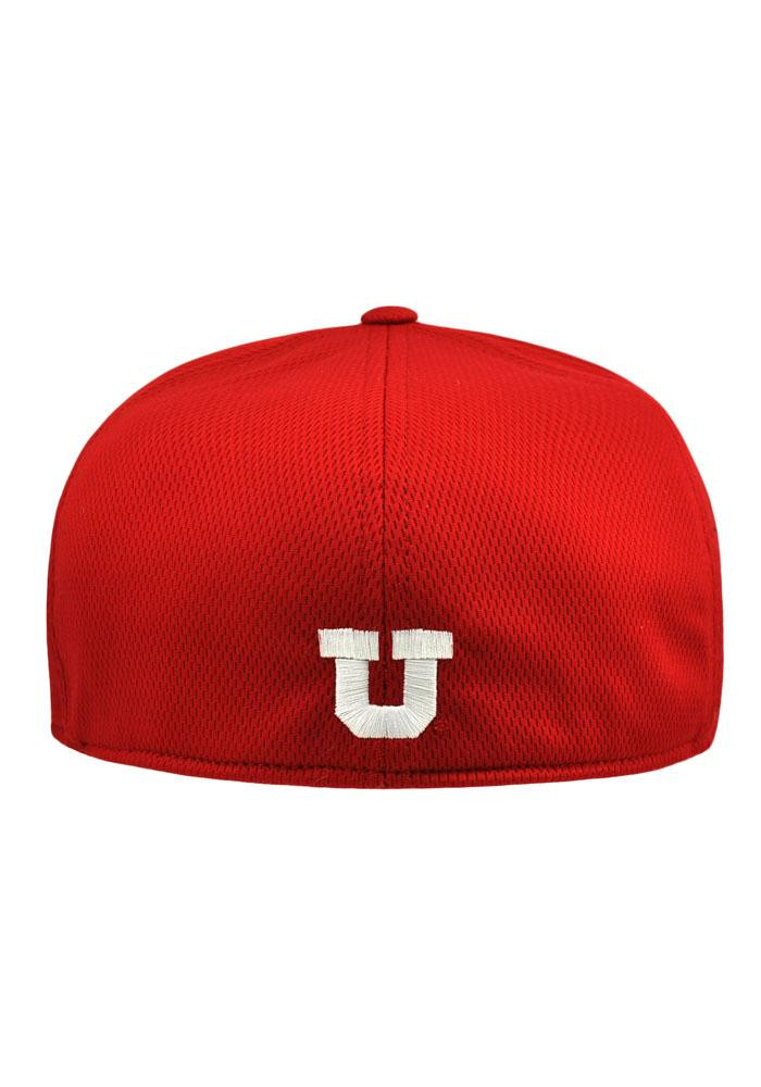Top of the World Utah Utes Mens Red Booster Flex Hat - Image 2