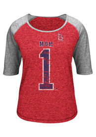 600afa0c Majestic St Louis Cardinals Womens Worlds Best Mom Red Scoop T-Shirt