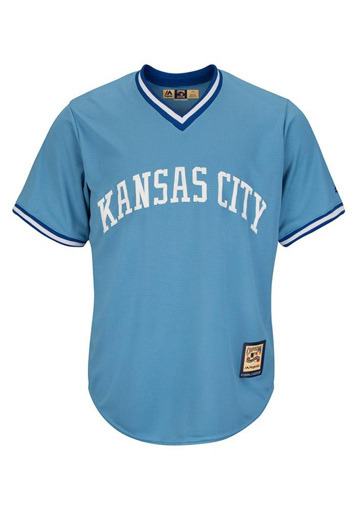 Kansas City Royals Mens Majestic Replica Cool Base Jersey Jersey - Blue - Image 1