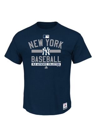 Majestic New York Yankees Mens Navy Blue AC Team Property Tee