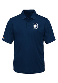 Detroit Tigers Majestic Change Up Swing Polo Shirt - Navy Blue