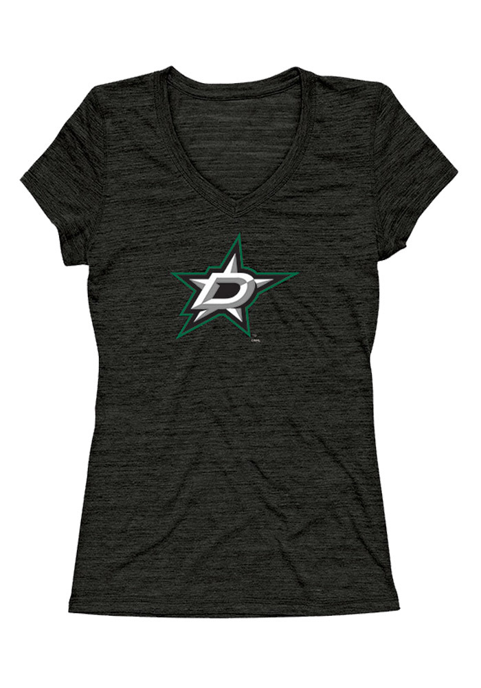 Dallas Stars Womens Black Official Cap V-Neck - Image 1