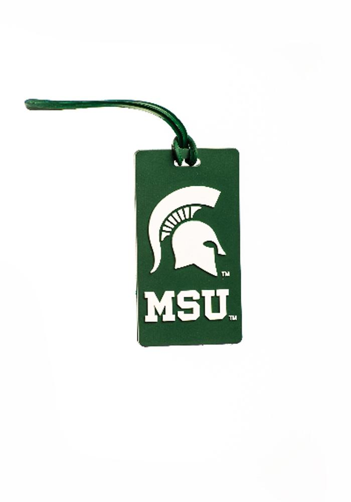 Michigan State Spartans PVC Luggage Tag - Green