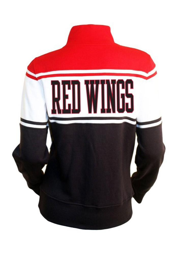 Detroit Red Wings Womens Red Heather Long Sleeve Track Jacket - Image 2