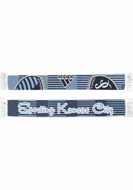 Sporting Kansas City Womens Adidas Polka Dot and Strip Sublimated Scarf - Navy Blue