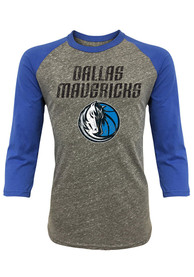 Dallas Mavericks Grey Raglan Fashion Tee