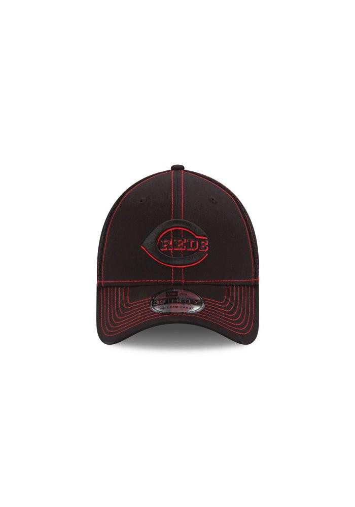 New Era Cincinnati Reds Mens Black Neo 3930 Flex Hat - Image 4
