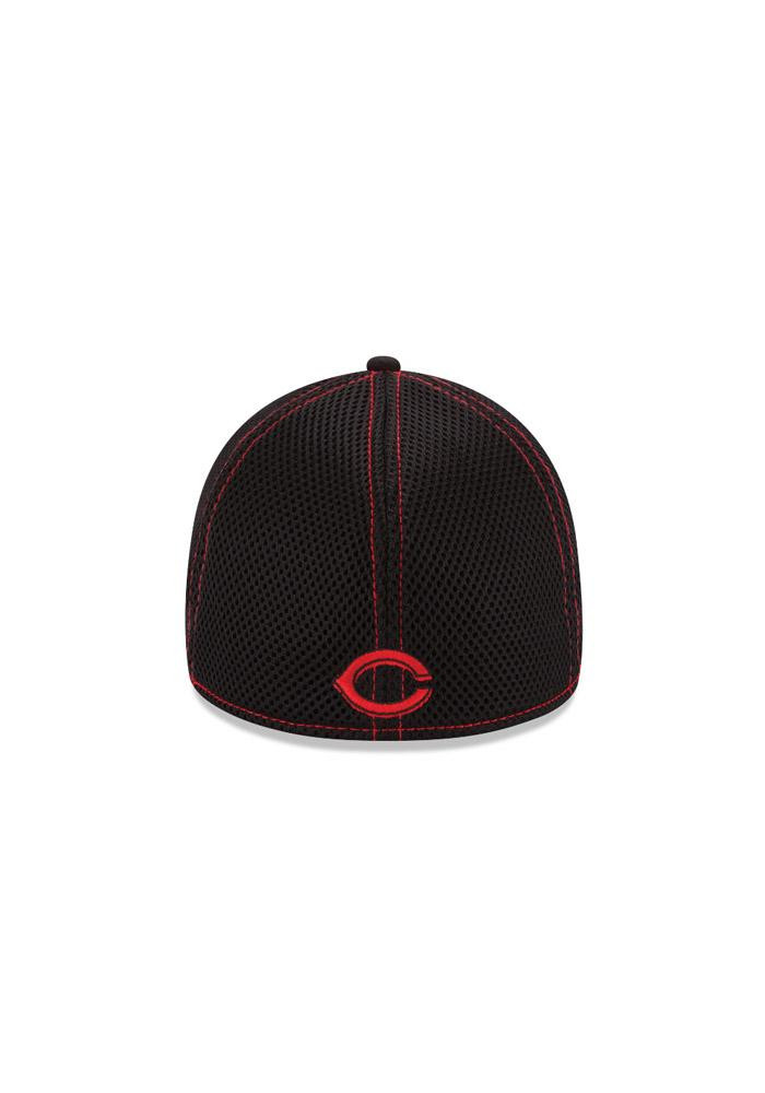 New Era Cincinnati Reds Mens Black Neo 3930 Flex Hat - Image 5