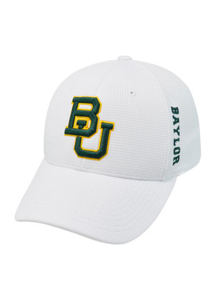 Top of the World Baylor Bears Mens White Booster Plus 1FIT Flex Hat
