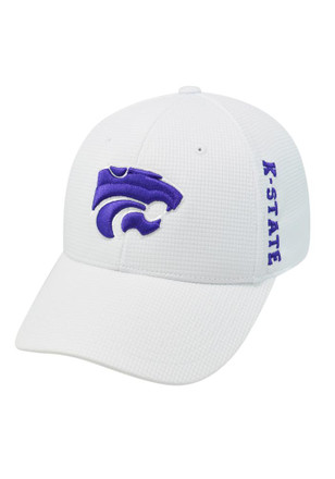 Top of the World K-State Wildcats Mens White Booster Plus 1FIT Flex Hat