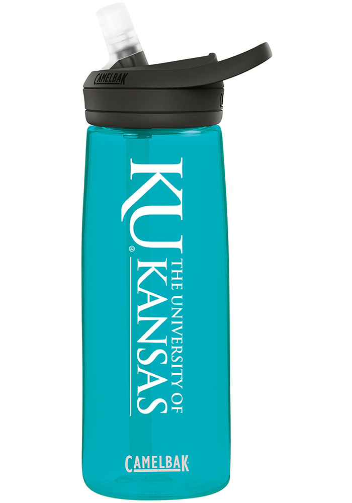 Kansas Jayhawks CamelBak Eddy .75L Sea Green Water Bottle - Image 1