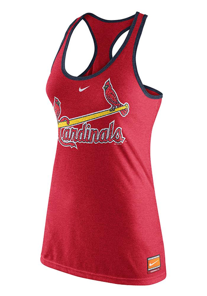 Nike St Louis Cardinals Womens Red Cooperstown Tank Top - Image 1