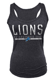 Detroit Lions Womens Tri-Blend Tank Top - Black