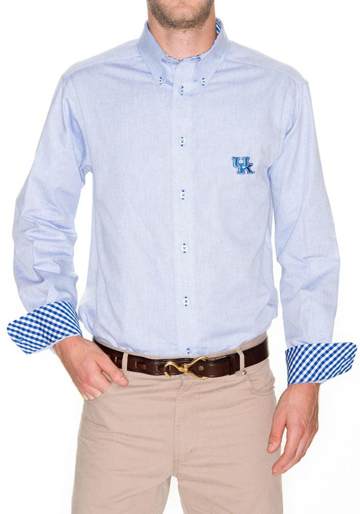 Kentucky Wildcats Mens Blue Oxford Long Sleeve Dress Shirt - Image 1