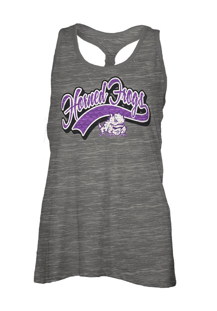 TCU Horned Frogs Womens Grey Cinch Tank Top - Image 1