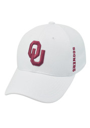 Top of the World OU Sooners Mens white Booster Plus 1FIT Flex Hat