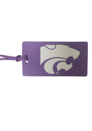 K-State Wildcats Purple PVC Luggage Tag