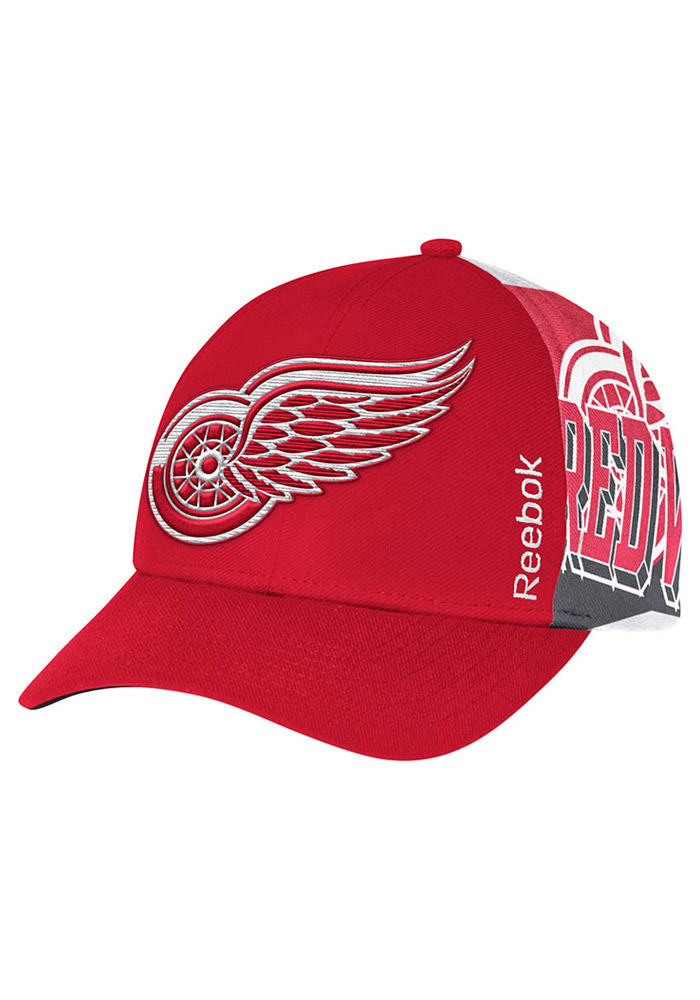 Reebok Detroit Red Wings Playoffs Adjustable Hat - Red - Image 1