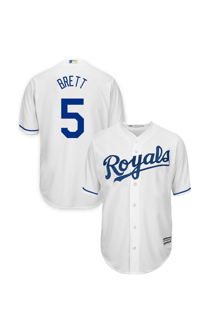 George Brett 5 Kansas City Royals Mens Player White Authentic Coolbase Jersey - Image 1