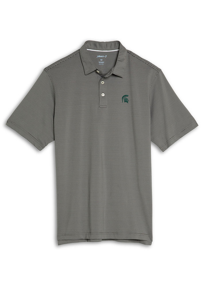 Michigan State Spartans Mens Charcoal Albatross Short Sleeve Polo - Image 1