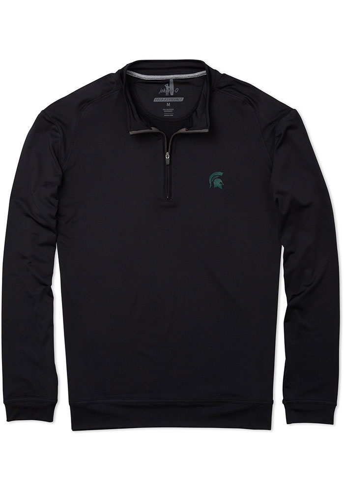 Michigan State Spartans Mens Black Flex Long Sleeve 1/4 Zip Pullover - Image 1