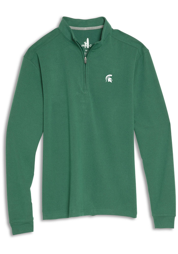Michigan State Spartans Mens Green Brady Long Sleeve 1/4 Zip Pullover - Image 1