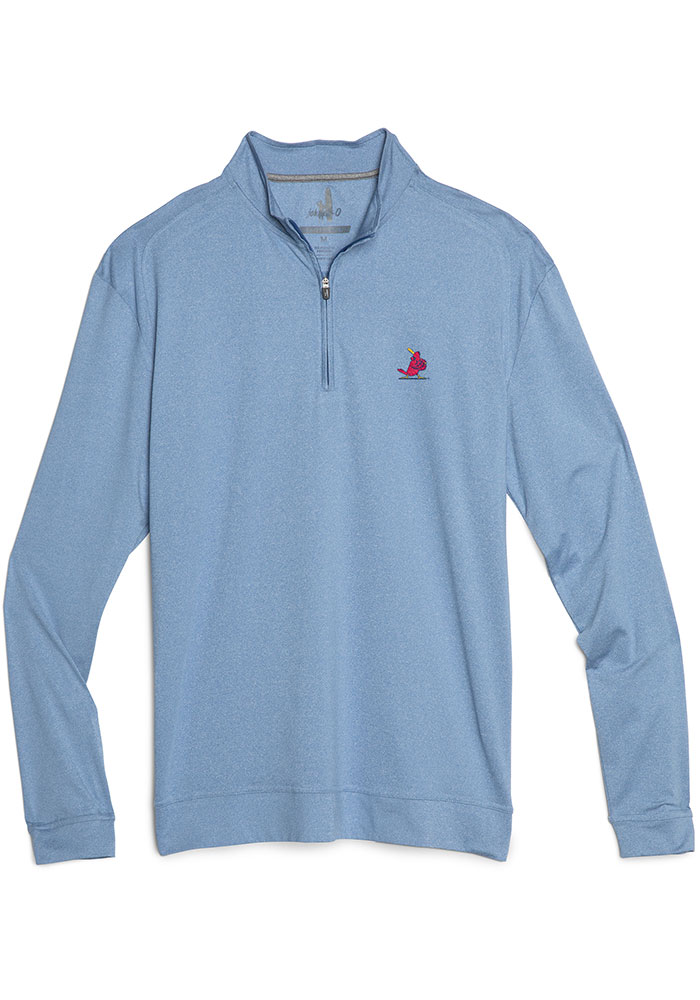 St Louis Cardinals Mens Blue Flex Long Sleeve 1/4 Zip Pullover - Image 1