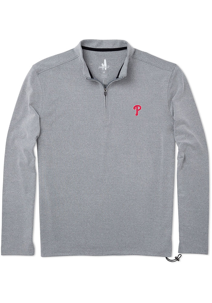 PHI Phillies M Grey Brady 1/4 Zip