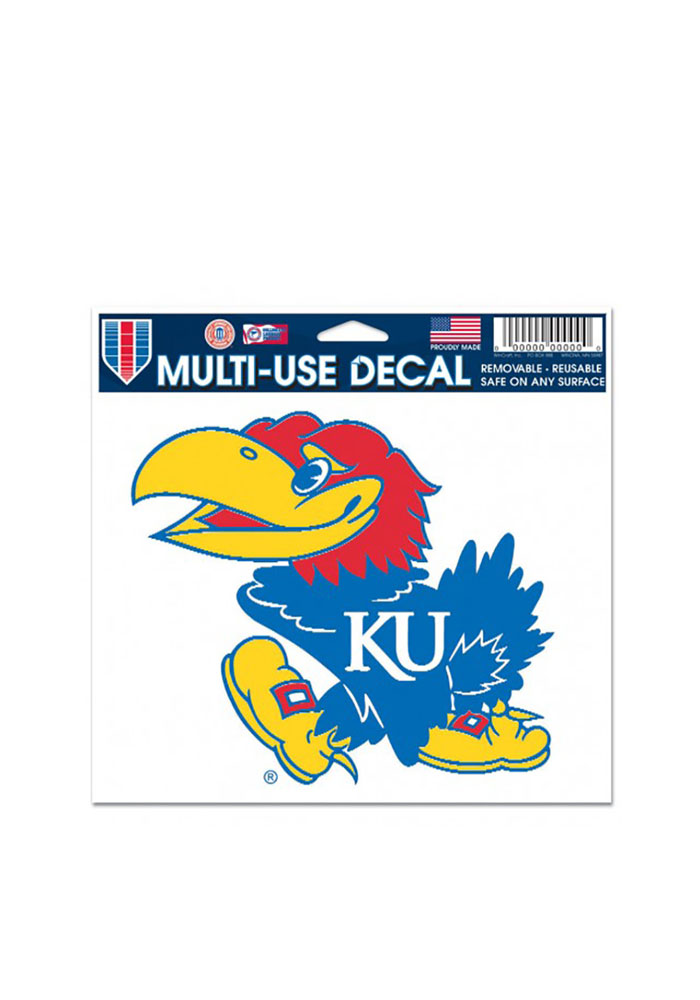 Kansas Jayhawks 5x6 Auto Decal - Blue - Image 1