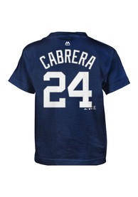 Miguel Cabrera Detroit Tigers Boys Outer Stuff Player T-Shirt - Navy Blue