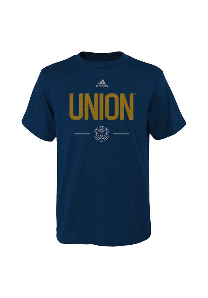 Philadelphia Union Youth Navy Blue Cotton Short Sleeve T-Shirt - Image 1