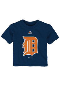 Detroit Tigers Infant Primary Logo T-Shirt - Navy Blue