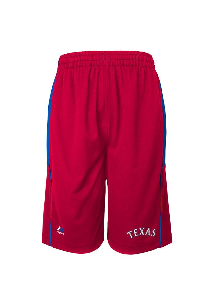 Texas Rangers Youth Red Youth Batters Choice Shorts - Image 1