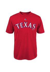Texas Rangers Youth Red Wordmark T-Shirt