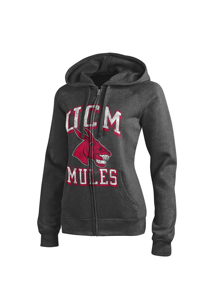 Central Missouri Mules Womens Grey Eco Sport Long Sleeve Full Zip Jacket - Image 1