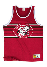 Mitchell and Ness Cincinnati Reds Red Surprise Win Tank Top