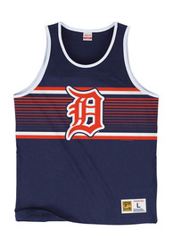 Detroit Tigers Mitchell and Ness Surprise Win Tank Top - Navy Blue