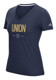 Adidas Philadelphia Union Womens Authentic Too Navy Blue Short Sleeve Tee