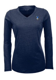 Antigua Dallas Mavericks Womens Navy Blue Flip Women's V-Neck