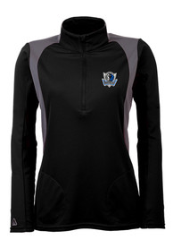 Antigua Dallas Mavericks Womens Delta Black 1/4 Zip Pullover