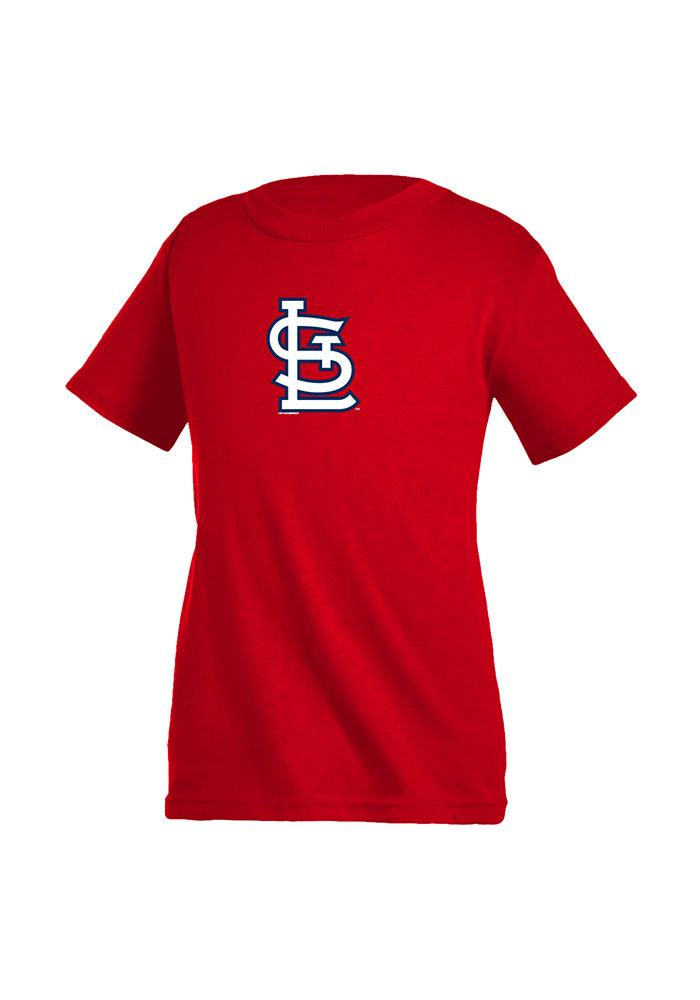 St Louis Cardinals Youth Red Youth Cap Logo Short Sleeve T-Shirt - Image 1