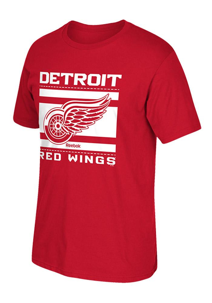 Reebok Detroit Mens Red Playoff Ticket Roster Tee 14760826