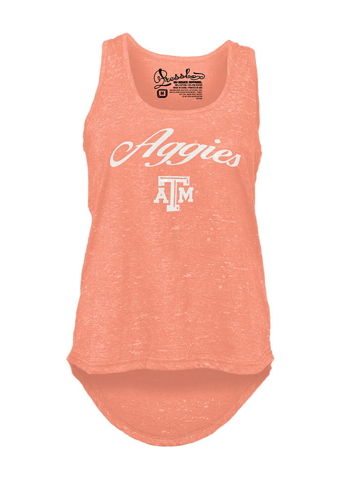Texas A&M Aggies Womens Orange Felicty Tank Top - Image 1