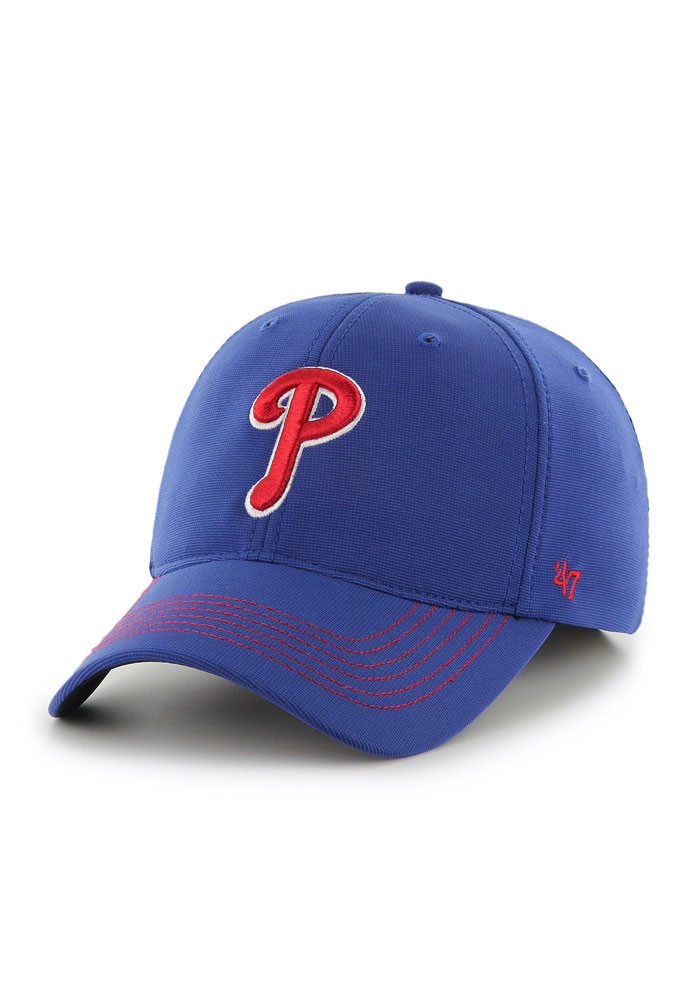 '47 Philadelphia Phillies Mens Blue Game Time Closer Flex Hat - Image 1