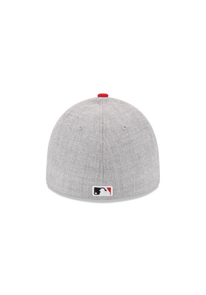 Cincinnati Reds Grey Clubhouse 39THIRTY Youth Flex Hat - Image 5