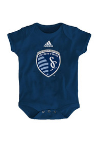 Sporting Kansas City Baby Navy Blue Primary Logo One Piece