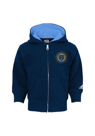 Philadelphia Union Baby Basic Full Zip Sweatshirt - Navy Blue