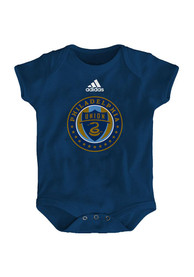 Philadelphia Union Baby Navy Blue Primary Logo One Piece