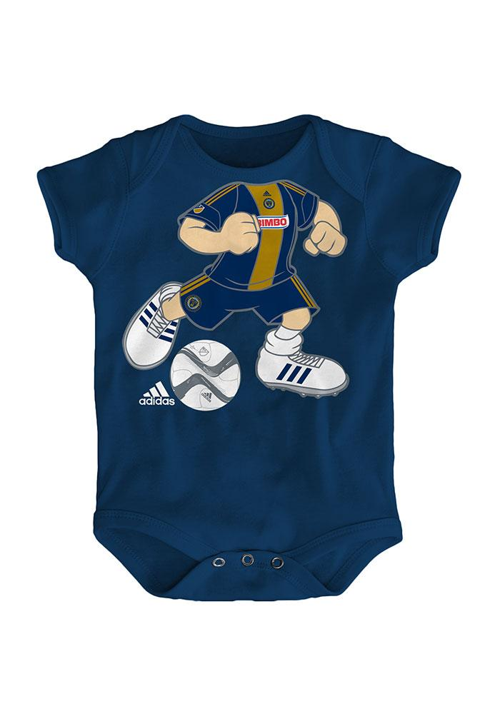 Philadelphia Union Baby Navy Blue Dream Job One Piece Short Sleeve One Piece - Image 1